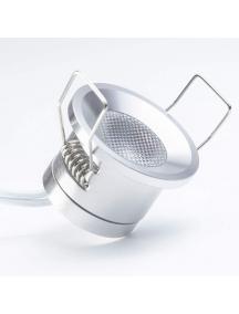 puntiluce 1w rotondo silver d.32 130lm 30d 12v 3000k luce calda mini plug 2338