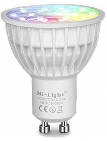 milight faretto led gu10 4W RGB + CCT dimmerabile via radio lampada Mi Light 2261