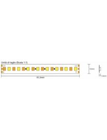strip led serie cct 140w luce variabile da 2700k a 6000k  cri80 140w 24w al metro 24v ip20 pcb 10mm  960 smd 2835  3012
