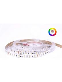 Strip led serie h c  72w luce calda cri 97 full spectrum 24v 72w 12,8w/mt ip20 pcb 10mm bobina da 300 smd 2835  3022