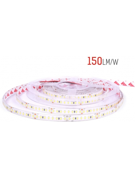 strip led serie h e 130w luce naturale striscia led ultra luminosa 23.9w al metro 24v ip20 pcb 10mm bobina da 800 smd 2835 2632