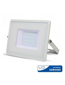 v tac faro led vt 50 superslim chip samsung 50w ip65 luce calda 3000k sku 409
