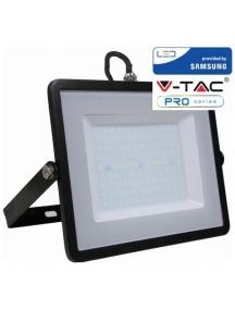 v tac faro led smd vt 100 ultrasottile chip samsung 100w ip65 luce calda colore nero 3000k sku 412