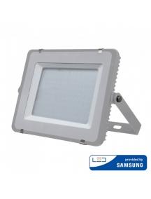 v tac faro led smd vt 200 superslim chip samsung 200w ip65 luce fredda grigio 6400k sku 485
