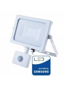 v tac faro led vt 20 s superslim chip samsung 20w ip65 luce fredda  6400k con sensore di movimento e creuscolare sku 450