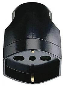 faeg 20617 presa volante schuko bipasso p40 2p+t 10a 16a nera fg20617