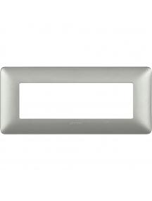 bticino matix placca 6 posti moduli silver mostrina cornice portafrutto incasso bticino am4806msl