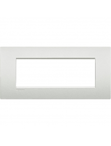 bticino living light placca 7 posti bianco perla bticino lnc4807pr