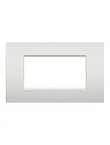 bticino living light placca 4 posti bianco perla bticino lnc4804pr