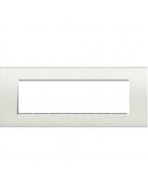 bticino  living light  placca 7 posti bianco bticino lna4807bi