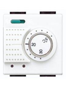 bticino living light termostato ambiente elettronico con commutatore estate  inverno 2 posti bticino n4442