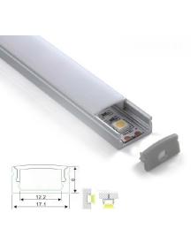 profilo alluminio lineare 1 metro copertura opaca per strisce led  1232
