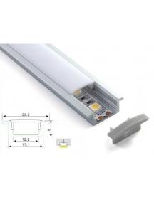profilo barra alluminio incasso opaco per strisce led 1 metro pro 1233