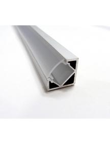 profilo in allumino barra angolare nuovo da 1metro con coperchio trasparente per strip led 0751