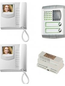 farfisa  kit videocitofono bifamiliare a colori  farfisa ex3111plc/2