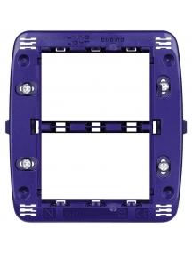 bticino living light supporto 3+3 moduli per placche tonde quadre bticino ln4726