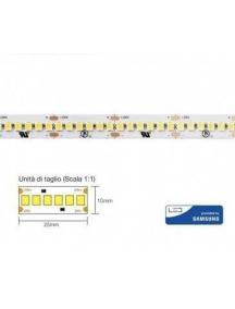 strip led con 1200 smd2835 chip samsung  ip20 24v 26w a  metro 130w 2700k luce calda 3031