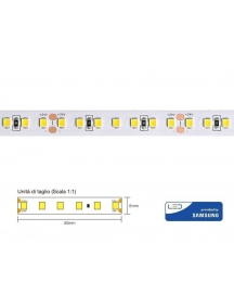 strip led cl60072 72w 14,4w metro 24v chip samsung ip20 4000k luce naturale  3029