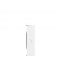 bticino living now  cover illuminabile simbolo luce un modulo colore bianco bticino kw01a