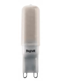 beghelli  bispina ledart 4w 230v g9 3000k luce calda beghelli 56130