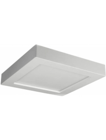 beghelli applique plafoniera x six sq led cct 20w ip20 3000k 6500k beghelli 71061