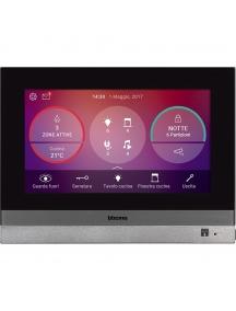 bticino my home  hometouch touch screen 7 per la gestione di tutte le funzioni my home grigio tech bticino 3488