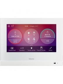 bticino living now hometouch touch screen 7 per la gestione di tutte le funzioni myhome bianco bticino 3488w