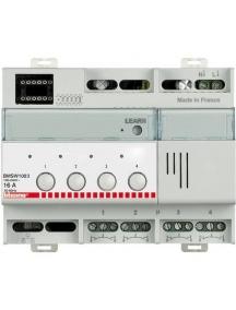 bticino my home attuatore scs on off  tecnologia zero crossing 4 x 16a  230v  6din bticino bmsw1003