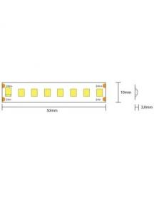 strip led serie h e 130w luce naturale  striscia led ultra luminosa 23.9w al metro 24v ip65 pcb 10mm bobina da 800 smd 2835 2846