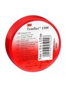 3mi nastro isolante autoestinguente rosso  in pvc rosso 15mm x 10mm x 0 3MI7000106663