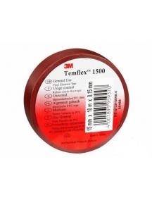 3mi nastro isolante autoestinguente marrone   in pvc rosso 15mm x 10mm x 0 3MI7000106662