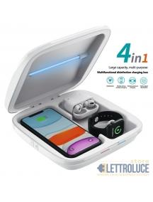 sterilizzatore igienizzatore multiuso telefoni mascherini oggetti caricatore wireless s4