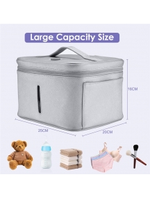 sterilizzatore borsa Uv leggera disinfezione lampada germicida per strumenti,oggetti,biancheria intima,mouse grigia P1