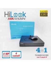 dvr ibrido 4 canali turbo HD+due chip ip 1080 pixel 6mp ip 204q-k1
