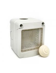 idrobox ip55 contenitore stagno bianco 2 posti moduli compatibile con vimar plana 14902