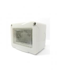 idrobox contenitore stagno ip55 3 posti bianco moduli compatibile con vimar plana 14903