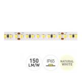 strip striscia led 18w/m 90w totali ip65 4000°k luce naturale 150lm/w 24v 5100