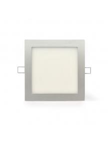 plafoniera quadrata da incasso a led 12w  luce calda 120° 850 lumen foro 150mm nuova 0824