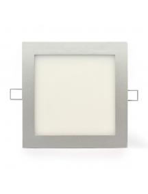 plafoniera led quadrata da incasso 20w  luce calda 1400 lumen 120° foro 22,5 nuova 0822