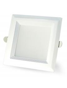 plafoniera quadrata da incasso bianco perlato  a led smd 5630 15w 120°  luce calda 1450 lumen nuovo 0920