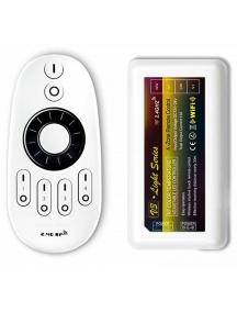 controller led wifi per strip mono e bicolore cct variabile compreso  telecomando fino a 4 zone nuovo 1127