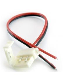 connettore strip striscia led 5050 con filo di 20cm larghezza 10mm nuovo 0151