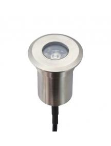 faretto calpestabile 12v/1,5w inox ip67 luce calda + controcassa incasso 45° 120lumen nuovo 1078