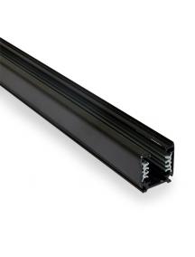binario led trifase nero 1metro rinforzato nuovo per faretti guida track barra asta supporto 0739