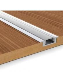 profilo barra alluminio incasso coperchio trasparente 1 metro estruso 0461