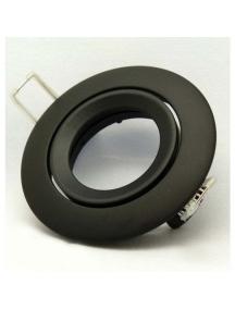 Portafaretto da incasso orientabile rotondo, nero opaco