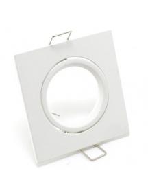 portafaretto da incasso per gu10 e mr16 orientabile bianco quadrato 0685