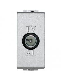bticino nt4202d light tech presa tv derivata maschio antenna grigia chiara frutto  BTINT4202D