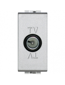 bticino nt4202p light tech presa tv passante maschio grigio chiaro frutto BTINT4202P