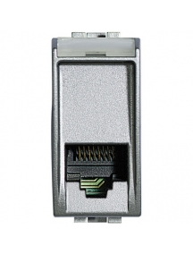 bticino nt4258/11n light tech connettore rj11 presa dati computer grigio chiaro frutto BTINT4258/11N